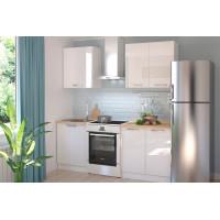 Амика 2,0 м белый модульный кухонный гарнитур