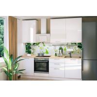 Амика 2,4 м белый модульный кухонный гарнитур